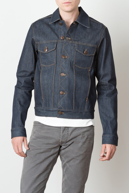 Freenote Cloth Classic Denim Jacket In Raw