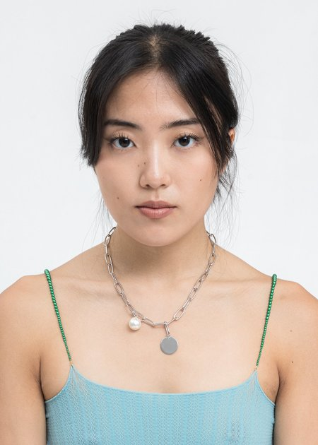DEPARTMENT Pearl And Coin Necklace - Silver