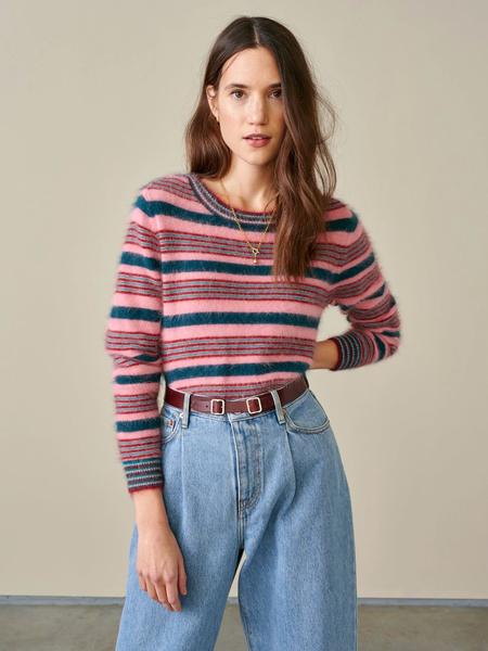 Bellerose Dattor Stripe Knit Top - Blush/Botanical/Teal