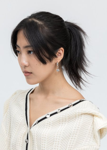 DEPARTMENT Disco Ball single Earring - Silver