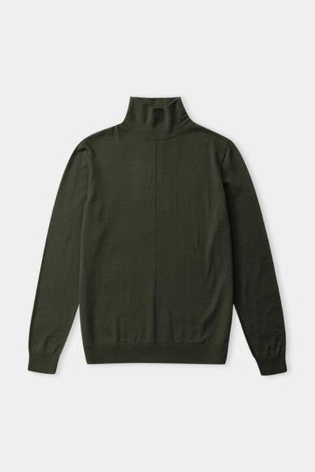 about companions Avid rollneck eco merino jumper sweater - olive