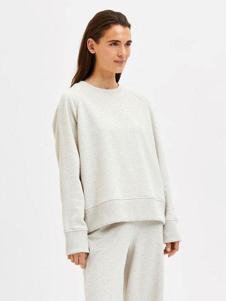 Selected Femme Liesel Sweatshirt - Sand Melange