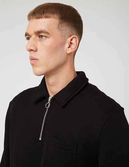 Bhode Everyday Half-Zip Collar Loopback Sweatshirt - Pirate Black