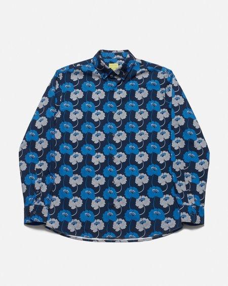 Poplin & Co. Casual Button Down Long Sleeve Shirt - Floral High Print