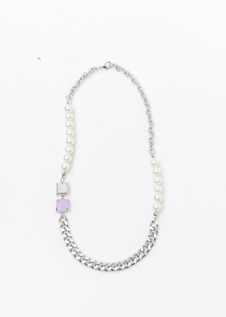 DEPARTMENT Silver Pearl And Purple Candy Necklace - Silver/Purple