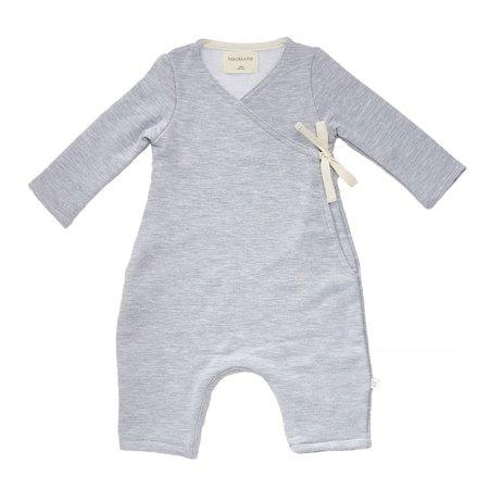 KIDS Bacabuche Long Sleeve Kimono Romper - Light Grey