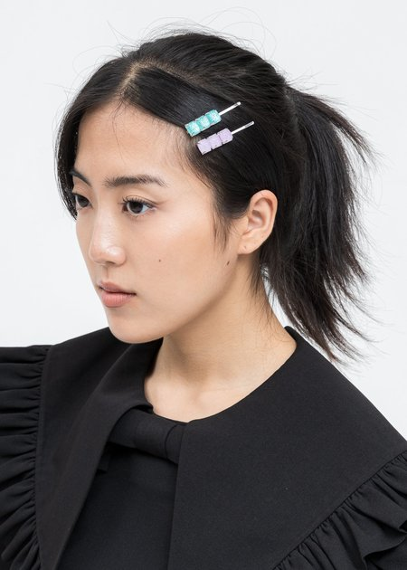 DEPARTMENT Candy Hair Pins - Blue/Pink