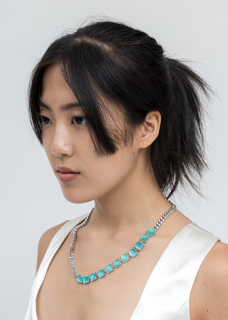 DEPARTMENT Candy Necklace - Silver/Blue