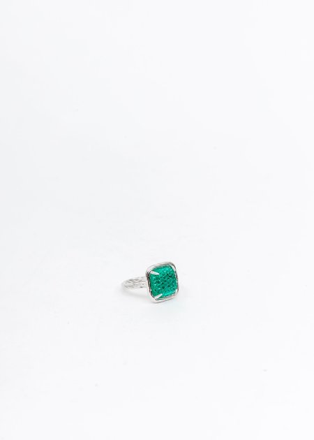 DEPARTMENT Candy Ring - Silver/Green