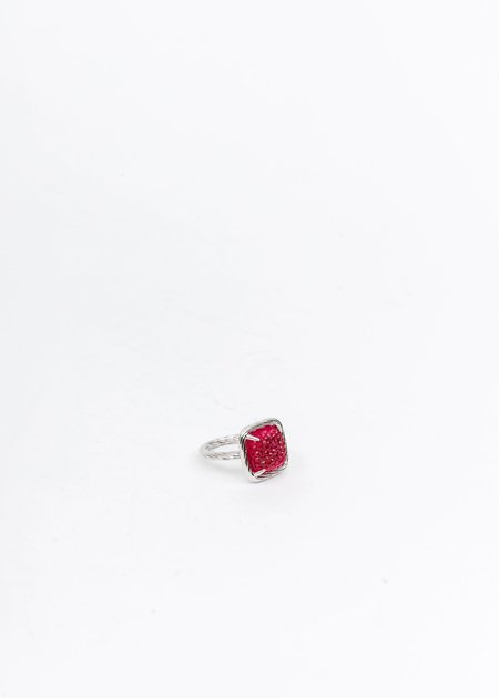 DEPARTMENT Candy Ring - Silver/Pink