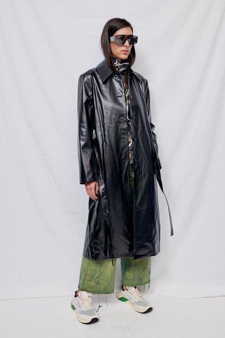 Blossom H Company Faux Leather Single Coat