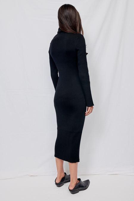 Gabriela Coll Garments NO.133 Knitted Zipper Dress - Black