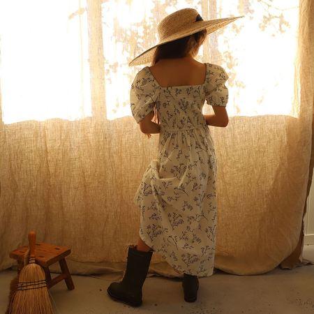 Kids Feather Drum Violette Dress - Sprig