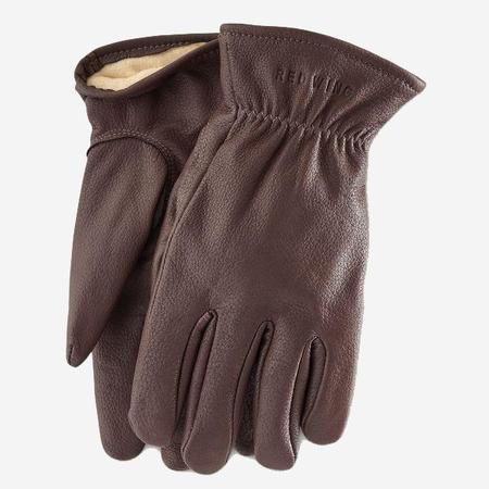 Red Wing Shoes Lined Buckskin Leather Gloves - Brown