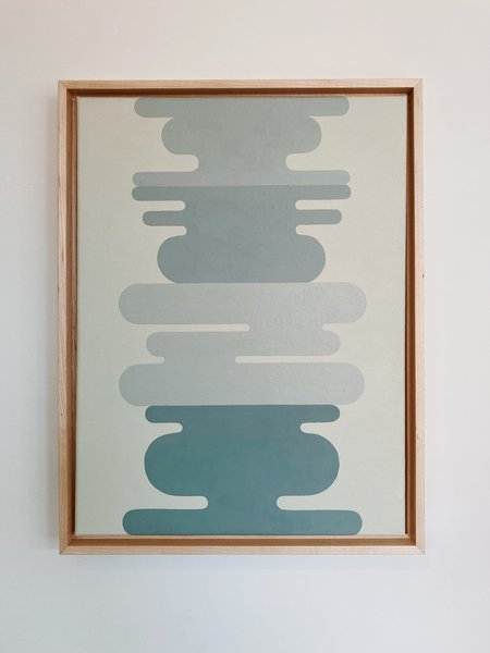 Alison Schopmeyer Framed Ocean Original Painting