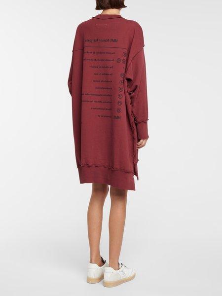 Maison Margiela Deconstructed Sweatshirt Dress - Burgundy