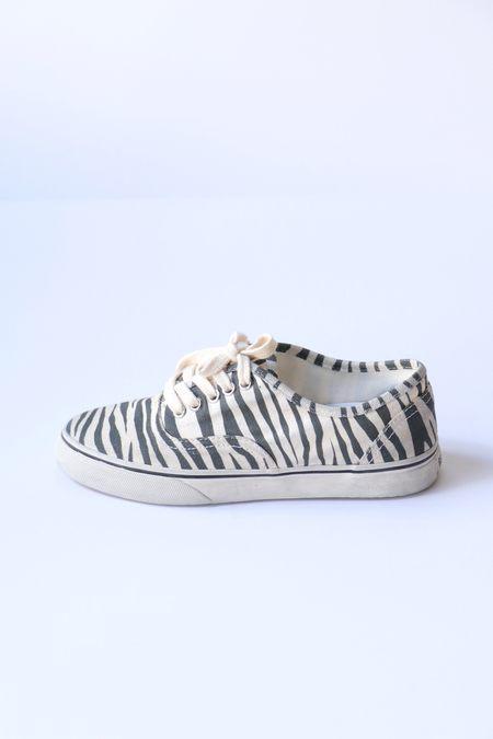 Re/done 70s Low Top Skate - Zebra Print