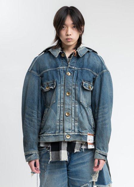 Mihara Yasuhiro Painted Denim Jacket - Indigo
