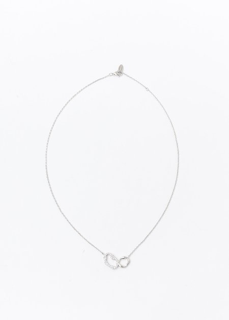 DEPARTMENT White Gold Cell Division Necklace - Silver