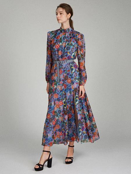 Saloni Jacqui-B Dress - Floral Adorning