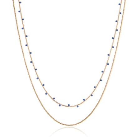 Jenny Bird Modri Double Strand Necklace - Gold