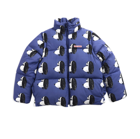 Bobo Choses Doggie All Over Padded Puffer Jacket - Royal Blue