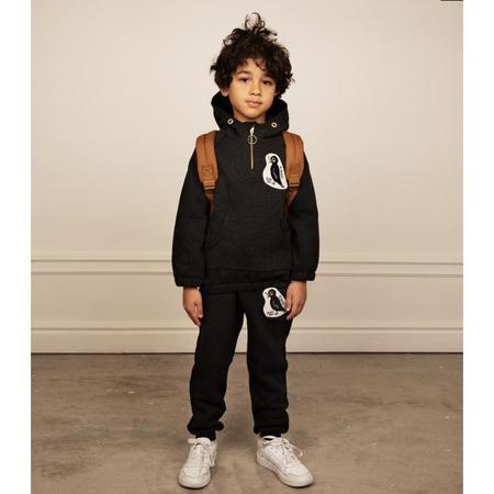 kids mini rodini blackbird sweatpants - black
