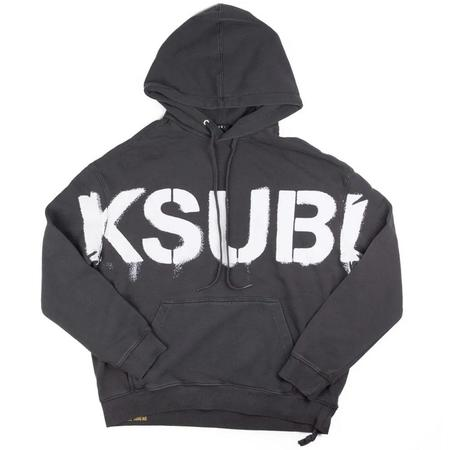 Ksubi Stencil Biggie Hoodie SWEATER - Grey