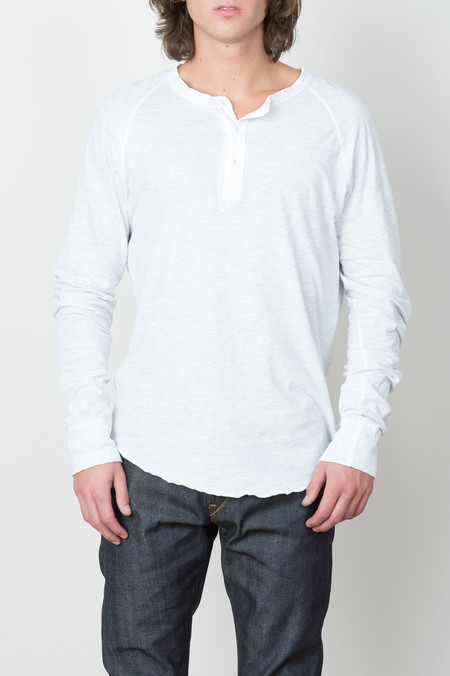 Save Khaki L/S Jersey Henley In Oatmeal Heather