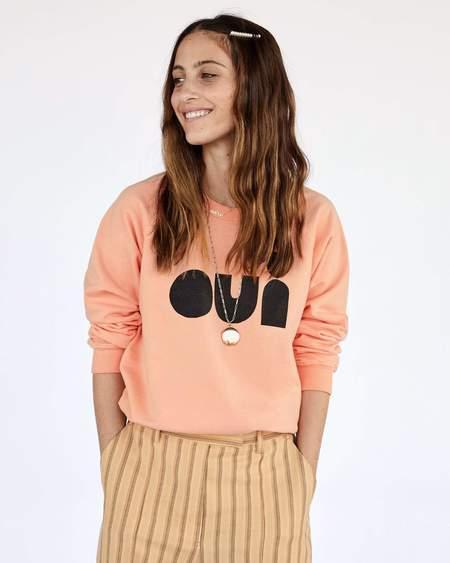 Clare V. Oui Sweatshirt - Coral