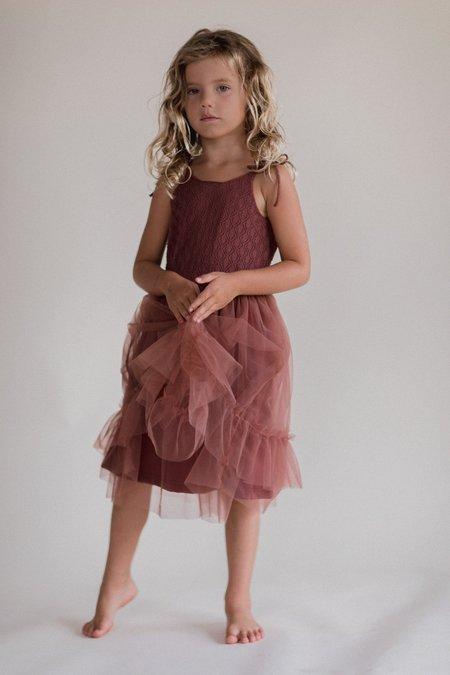 Kids Raised By Water Elle Dress - Rosewood
