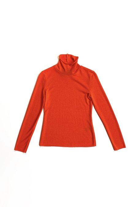 No.6 Gloria Turtleneck - Red Jersey