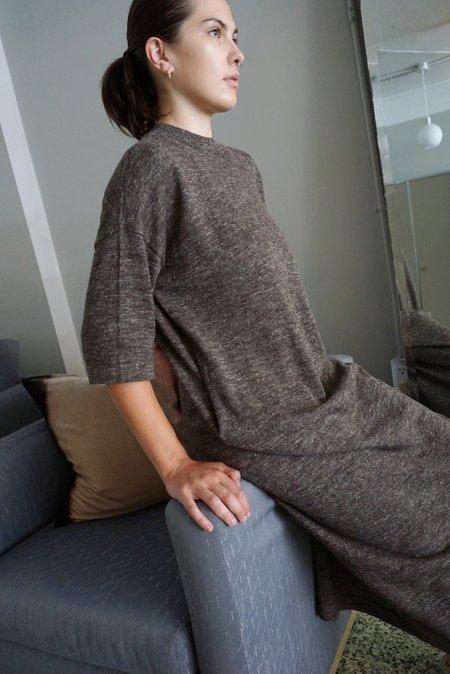 Lauren Manoogian Facil Crewneck Dress - Blackened Flax