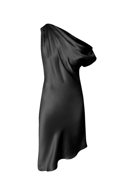 KES Venus Drop Shoulder Dress - Black