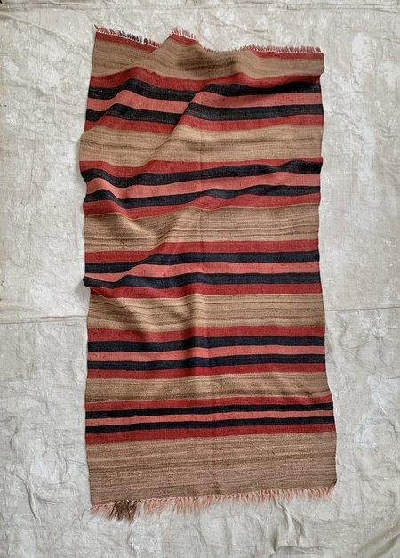 Vintage Bold Stripe Wool Area Rug - Multi