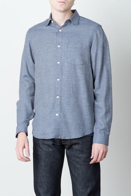 Hope Roy Pocket Shirt In Dark Blue Melange