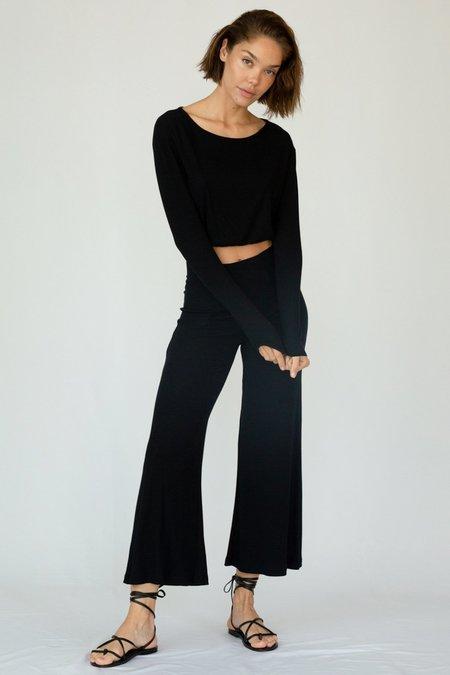 Stillwater Rib Wide Leg Pant - Black