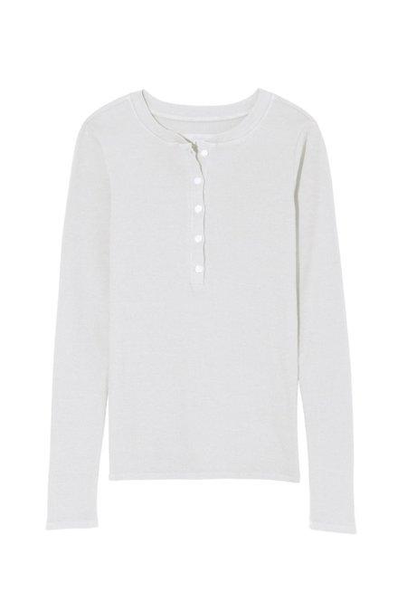 Nili Lotan Jordan Henley Shirt  - Ecru