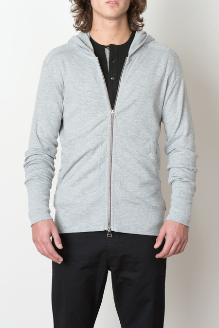 Wings + Horns Zip Hoodie In Heather Grey