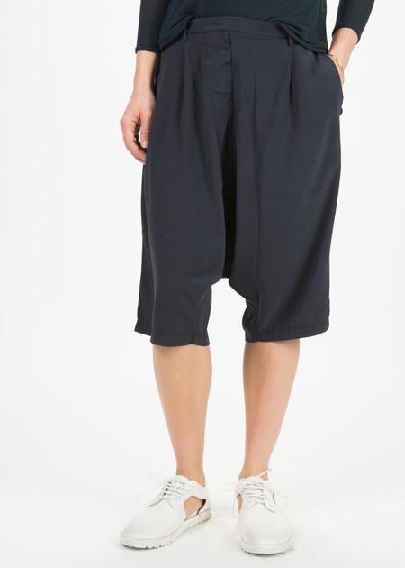 Kristensen du Nord Silk Drop-Crotch Bermuda Shorts