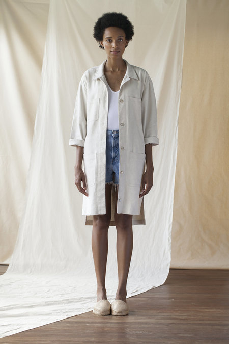 House Dress Long Field Jacket - Ivory