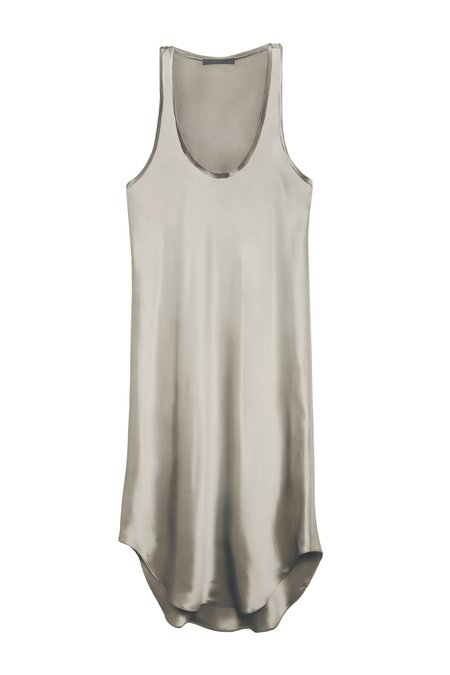 KES Raw Edge Tank Dress - Quartz