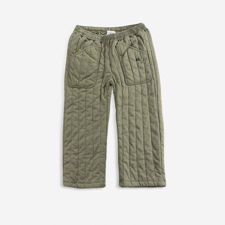 Kids Bobo Choses Quilted Jogger Pant - Dark Green