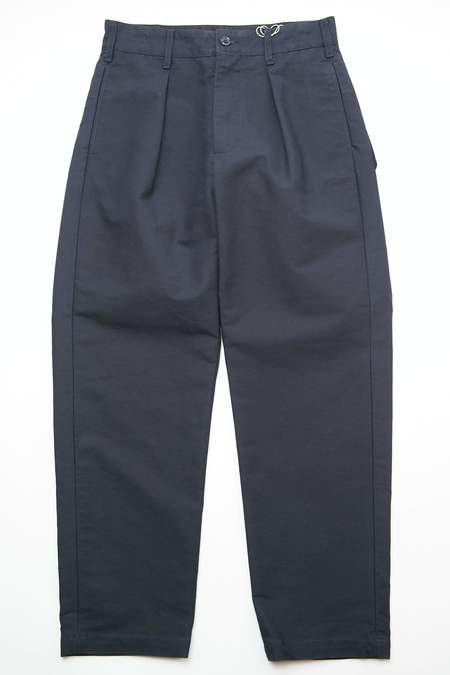 Engineered Garments Carlyle Cotton Double Cloth Pant - Navy