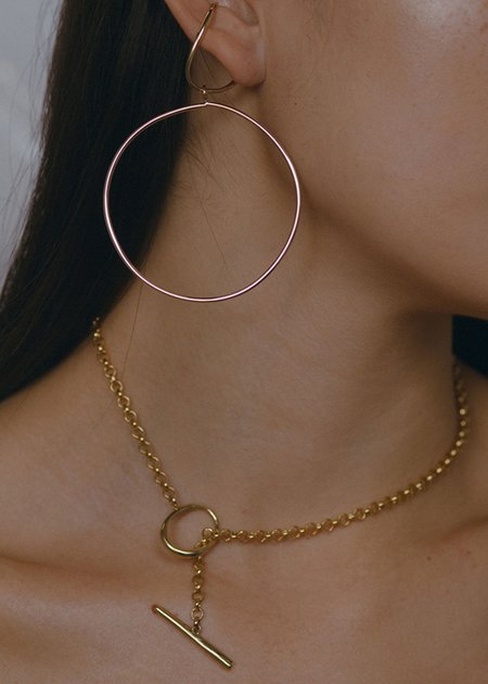 FARIS Anka Lariat necklace - Bronze/Gold-Fill