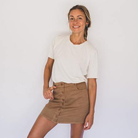 Jungmaven Cropped Silverlake Tee - Coyote