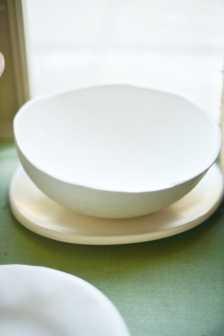 Edie McLaughlin Nussbaumer Ceramics fruit bowl - white