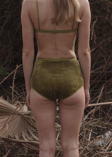 Baserange Highwaist Bell Pants - Galti Green