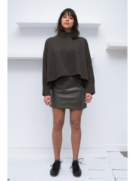 ECKHAUS LATTA Extended Sweatshirt - Off Black