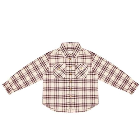 Kids the new society alex shirt - red check